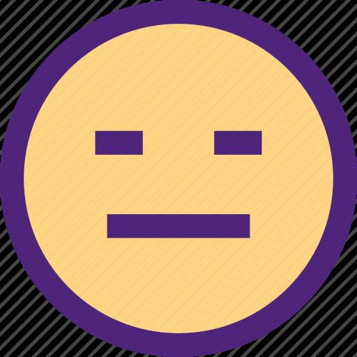 chat, emoji, emoticons, expression, face, grumpy icon