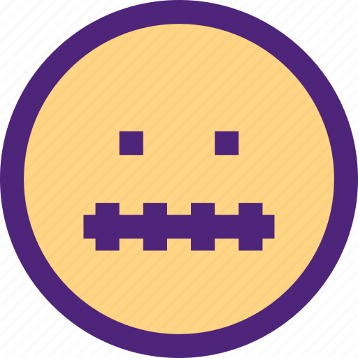 chat, emoji, emoticons, expression, face, mute icon