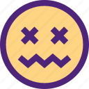 chat, emoji, emoticons, expression, face, pain icon