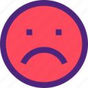chat, emoji, emoticons, expression, face, sad icon