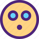 chat, emoji, emoticons, expression, eyes, face, shocked icon