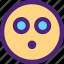 chat, emoji, emoticons, expression, eyes, face, shocked icon