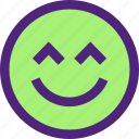 chat, emoji, emoticons, expression, face, kiki, smile icon