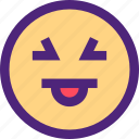 chat, emoji, emoticons, expression, face, kiki, tongue icon