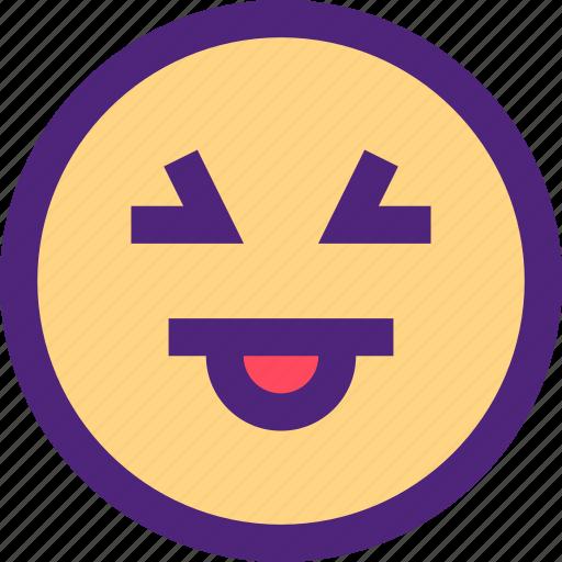 chat, emoji, emoticons, expression, face, kiki, tongue icon