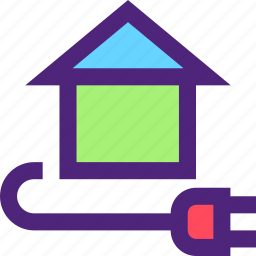 ecology, efficiency, electricity, energy, force, home icon