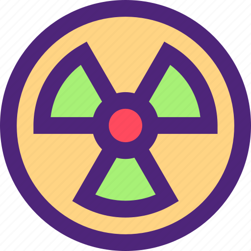 caution, ecology, efficiency, electricity, energy, force, nuclear icon