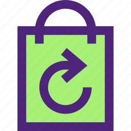 bag, ecology, efficiency, electricity, energy, force, recycled icon