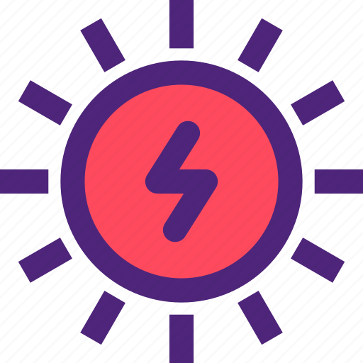ecology, efficiency, electricity, energy, force, power, sun icon