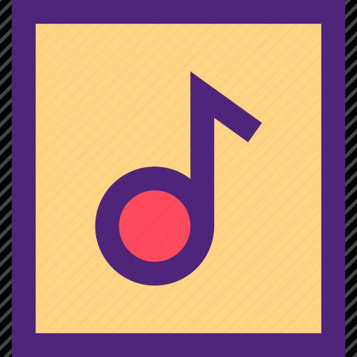archive, computer, digital, document, file, files, sound icon