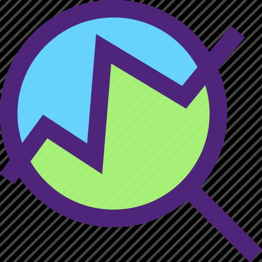 analytics, business, commerce, economics, finance, money icon