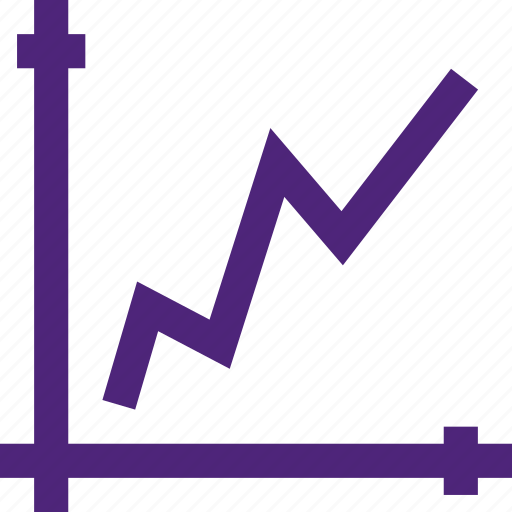 business, commerce, economics, finance, growth, money, rate, stats icon