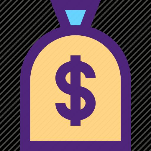 bag, business, commerce, economics, finance, money icon