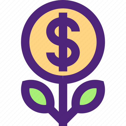 business, commerce, economics, finance, growth, money, plant icon
