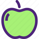 apple, diet, food, grocery, meal, snack icon