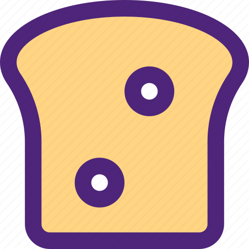 bread, diet, food, grocery, meal, slice, snack icon