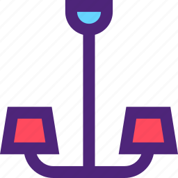 appliance, chandelier, devices, furniture, gadgets, goods icon