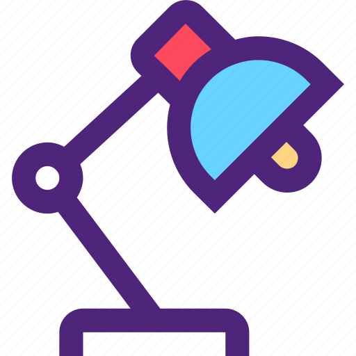 appliance, desk, devices, furniture, gadgets, goods, lamp icon