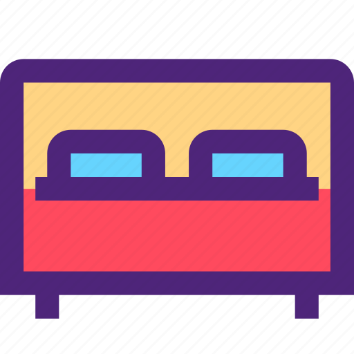 appliance, bed, devices, double, furniture, gadgets, goods icon