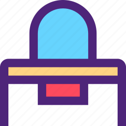 appliance, devices, furniture, gadgets, goods, mirror, table icon
