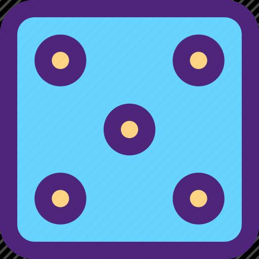 adventure, dice, entertainment, five, fun, games, play icon