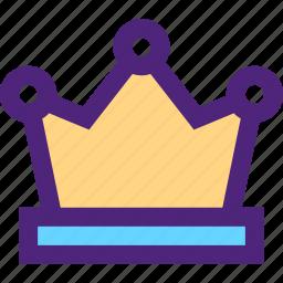 adventure, crown, entertainment, fun, games, king, play icon
