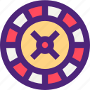 adventure, entertainment, fun, games, play, roulette, wheel icon