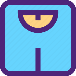 diet, energy, fitness, health, scale, silhouette icon