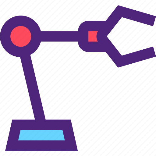 business, commerce, factory, industry, manufactory, production, robot icon