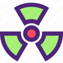 business, caution, industry, nuclear icon