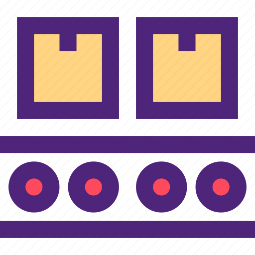 business, commerce, industry, line, manufactory, production icon