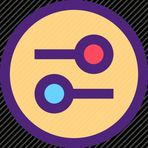 app, communication, interaction, interface, options, settings, web icon