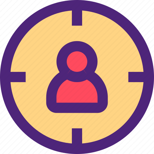 business, commerce, economics, marketing, retail, target, users icon