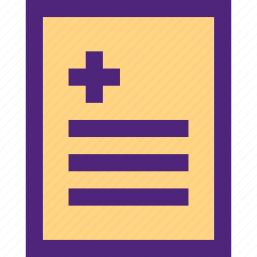 doctor, heal, health, hospital, medical, report icon