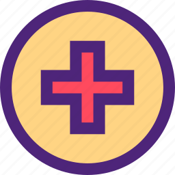 cross, doctor, heal, health, hospital, medical, sign icon