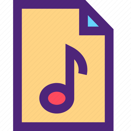 audio, file, melody, music, song, sound, tune icon
