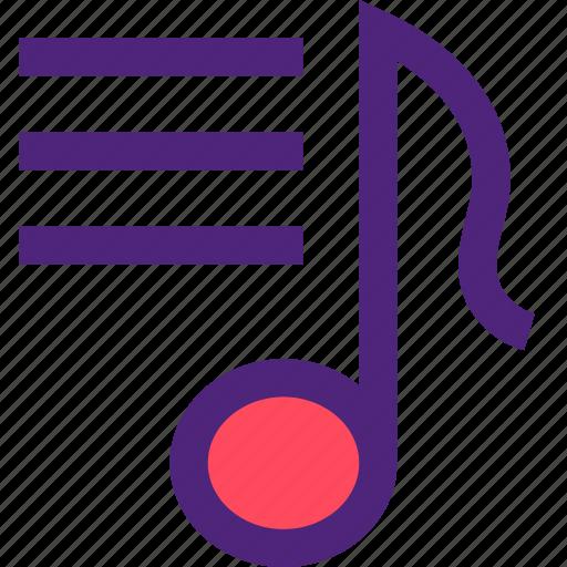 list, lyrics, melody, music, song, sound, tune icon
