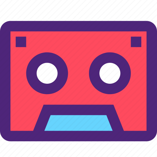 cassette, melody, music, old, song, sound, tune icon