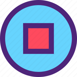 button, melody, music, song, sound, stop, tune icon