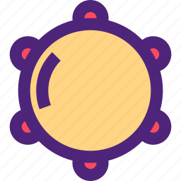 melody, music, song, sound, tambourine, tune icon