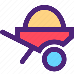 agriculture, earth, farming, garden, loaded, nature, trolley icon