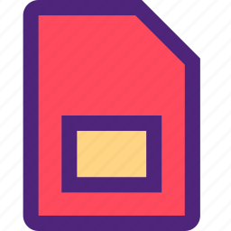 call, card, contact, dial, phone, sd, storage, telephone icon