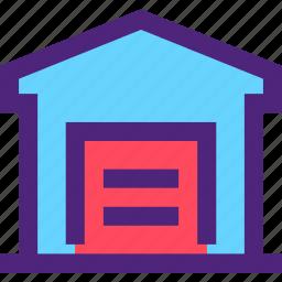 assets, capital, estate, garage, property, wealth icon