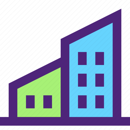 assets, capital, complex, estate, home, house, property, wealth icon