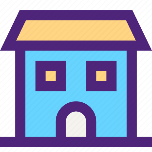 assets, capital, estate, home, house, large, property, wealth icon