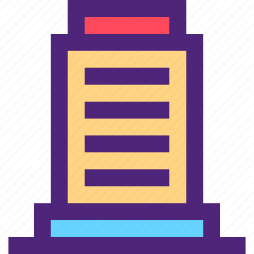 assets, capital, estate, office, property, tower, wealth icon