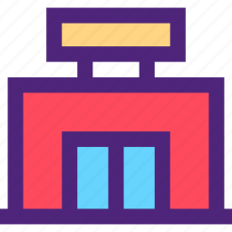 assets, capital, estate, property, shop, small, wealth icon