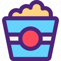 bar, diner, lounge, popcorn, restaurant, tavern icon