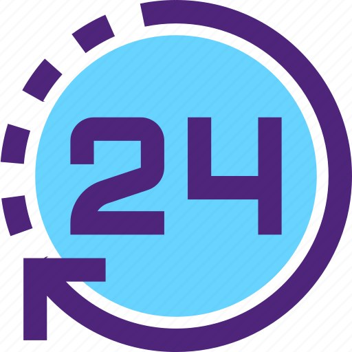 24h, agenda, clock, day, diary, plan, program, schedule icon