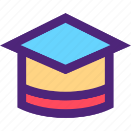 academic, art, cap, education, learning, science, wisdom icon